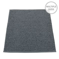 Woven using a blend of two dark tones, one matt charcoal grey, and one with a metallic black shimmer, the Pappelina Svea mat will add a touch of sophistication to any floor.  The Pappelina granit Svea comes in three lengths and two practical widths, 70cm, and the new slender 60cm - perfect for those tight spaces such as shower rooms, entrances and narrow hallways.  Pappelina rugs are woven from soft plastic using traditional Swedish techniques, they are fully reversible and washable.