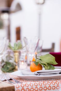 Orange table decor: http://www.stylemepretty.com/california-weddings/palm-springs/2015/05/15/whimsical-moroccan-inspired-palm-springs-wedding/ | Photography: Isabel Lawrence - http://isabellawrence.com/