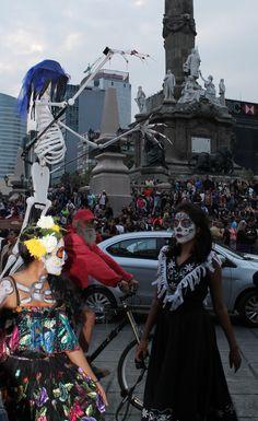 desfile catrinas paseo de la Reforma, México 2015