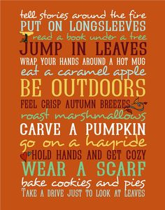 Things to do in the fall!