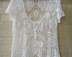 White Wedding Crochet Bridal Bolero Jacket