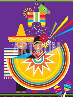 Traditional Mexican Cultural Celebration with Pinata ~ Digital Photographic Print