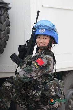 Beauty soldier PLA girl