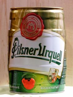 SALE! Empty Can Of Czech Beer Pilsner Urquell, Keg, 5L. 2012