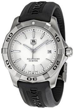 TAG Heuer Men's WAP1111.FT6029 Aquaracer Silver Dial Watch TAG Heuer. $1048.03. Durable sapphire crystal protects watch from scratches. Stainless-steel case. Water-resistant to 984 feet (300 M). Quartz movement. Case diameter: 39 mm. Save 38% Off!