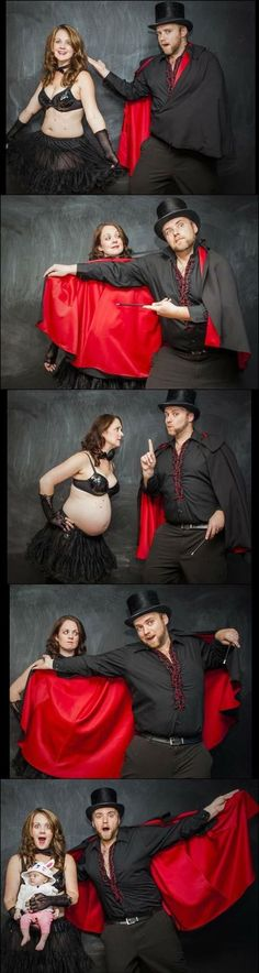OMG I wish I would have thought of this! Super cute Idea! Magician pregnancy announcement - FunCage