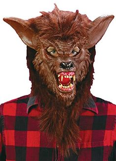 Werewolf Scary Beast Monster Horror Deluxe Latex Adult Halloween Costume Mask -- Be sure to check out this awesome product.