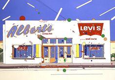 鈴木英人 – ページ 5 – EIZIN SUZUKI ILLUSTRATION 80s Design, Graphic Design Tutorials, Landscape Illustration, Graphic Illustration, Retro Aesthetic, Cool, Love Art, Music Artists, Illustrators