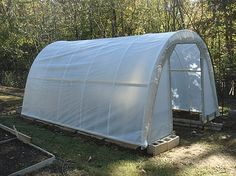 11 DIY Greenhouse Plans That are Free: The Door Garden's Free Low-Cost Greenhouse Plan