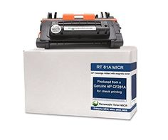 Renewable Toner 81A CF281A Modified MICR Toner Cartridge for Check Printing on LaserJet Enterprise M605, M630 series printers