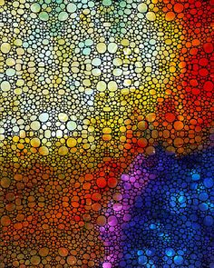 Colorful Stone Rock'd Abstract Art By Sharon Cummings