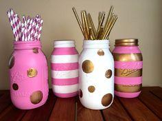 Mason Jar Crafts 665477282422643615 - Creative DIY Mason Jar Decorations diy crafts, diy project, mason jars projects, diy and crafts mason jars Source by Diy And Crafts Sewing, Crafts For Girls, Arts And Crafts, Diy Crafts, Pot Mason Diy, Mason Jar Vases, Pink Mason Jars, Painted Mason Jars, Mason Jar Projects