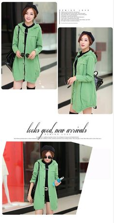 New Arrivals : Loose Fit Autumn Casual Korean Coat YRB0334