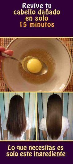 """""""El pelo largo, suave y sedoso es un símbolo de la feminidad y el deseo toda mujer. #cabellodañado #pelo #gelatina"""