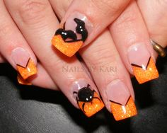 Spider Nail Design for Halloween Party :: Nail Art Design From CoolNailsArt