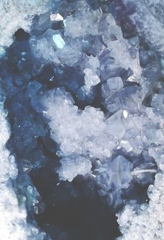 :Celestite crystals