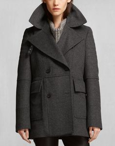 Grey Wool Coats - Belstaff