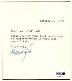 """MIKE DOUGLAS SIGNED NOTE W/ ENVELOPEPSA COA . $30.00. MIKE DOUGLAS HAND SIGNED NOTE ~AUTO~PSA DNA~W/ENVELOPE~ DESCRIPTION: APPROX 5X5"""" TYPED NOTE DATED OCTOBER 18, 1972 HAND SIGNED BY TELEVISION LEGEND MIKE DOUGLAS WITH BLUE INK. VERY NICE, CLEAN & BOLD SIGNATURE FROM MIKE ON THIS ITEM - SEE PIC. CLICK ON PICTURE FOR A CLEARER LARGER IMAGE. THIS LOT ALSO INCLUDES ORIGINAL ENVELOPE USED TO SEND AUTOGRAPHED NOTE. AUTOGRAPH AUTHENTICATED BY PSA/DNA WITH PSA/DNA NUMBERE..."""