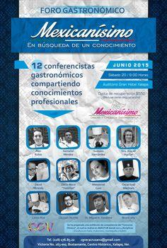 Foro Gastronómico Mexicanísimo en Xalapa, Ver el próximo 20 de junio 2015
