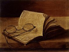 William T. Howell Allchin (1844 - 1883), Still Life with an open Book and Spectacles (Click for larger version of this image)