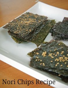 Making your own nori chips is easy and much cheaper than buying the prepackaged versions.