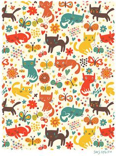 New cats wallpaper pattern wrapping papers 43 Ideas Cats Wallpaper, Pattern Wallpaper, Iphone Wallpaper, Cat Pattern, Pattern Art, Textures Patterns, Print Patterns, Cat Background, Background Designs