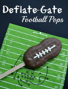 "Totally laughing over ""Deflate-Gate Football Pops"" from SweetSimpleStuff -- Without ""Deflate-Gate,"" these would not have been the right shape!"