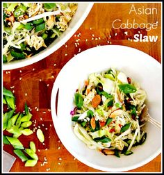 This Asian Cabbage Slaw is the perfect accompaniment for your next BBQ! It's light, crisp and refreshing for the summer :)
