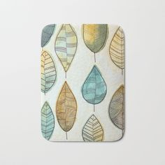 Rustic Leaves Bath Mat by lorimoro Bath Mat, Coasters, Leaves, Rustic, Stuff To Buy, Products, Country Primitive, Coaster, Retro