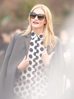 6bbcac91652b British model Poppy Delevingne wearing Burberry make-up as she arrives for  the A