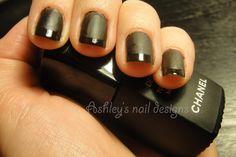 Chanel Mat top coat ontop of black polish