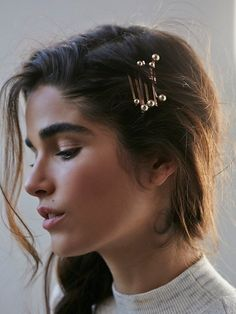 Rose gold pearl bobby pins. @thecoveteur