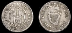 Dublin Corporation, Halfpenny, 1679, in silver, arms of Dublin, · the · dvblin · halfpennie ·, rev. crowned harp, · long · live · the · king ·, edge grained, 9.14g/12h (DF 349, not listed in silver). Obverse fine, reverse better, of the highest rarity; believed to be the only known specimen in silver Rarity, Harp, Long Live, Dublin, Irish, Coins, Silver, Coining, Irish People