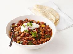Summer Vegetable Chili from #FNMag #RecipeOfTheDay