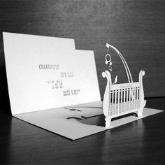 birth announcement card laset cut