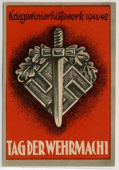 """German WWII poster, """"Day of the Wehrmacht"""", 1941-2"""