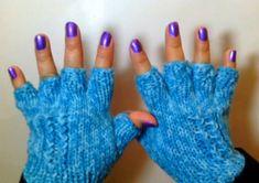 Como hacer unos Lindos Guantes de Invierno / How to Knit Half Finger Gloves