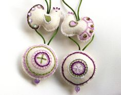 Embroidered Felt Ornaments