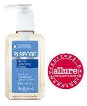 Purpose Face Wash - This is the best, most gentle, but effective cleanser around.  I've worked for two major cosmetic lines, and their overpriced cleansers cannot hold a candle to this....love, love, love it!