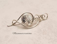 Silver tree of life for knitted shawl and sweater,silver wire scarf pin, filigree sweater pin, swirl design tree of life shawl pin Silver tree of life for knitted shawl and sweatersilver wire Online Yarn Store, Shawl Pin, Swirl Design, Silver Brooch, Oxidized Sterling Silver, Big Black, Knitted Shawls, Silver Charms, Handmade Silver