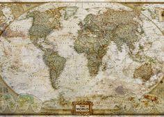 Carta da parati The World Map - Geco Wallpaper&More