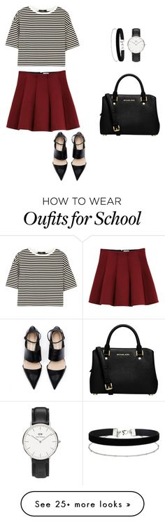 """Back to school "" by adell-sandke on Polyvore featuring Outstanding Ordinary, TIBI, Daniel Wellington, Miss Selfridge and MICHAEL Michael Kors"