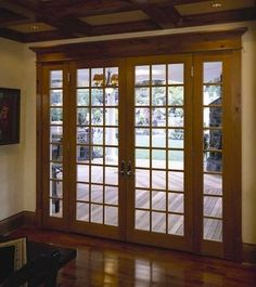Some day we will be redoing the old ugly back sliding door to something nice like this.