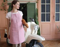 Items similar to Linen apron Japanese apron Aprons for women Pinafore apron Apron dress Gift for her Housewarming gift Cross back apron Gift for Mom ZUT on Etsy Fat Quarters, Cupcake Rose, Jean Apron, Heavy Clothing, Pin Up, Japanese Apron, Pinafore Apron, Cute Aprons, Linen Apron