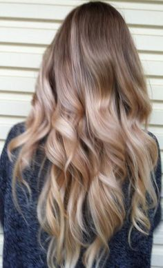 Ash Blonde and Gold Ombre Hair Balayage by NinasCreativeCouture