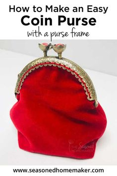 Learn how to make an easy coin purse with a clasp. See my other FREE how to sew tutorials for beginners + lots of ideas for sewing & quilting projects. Includes step-by-step photos. Easy Sewing Projects, Sewing Projects For Beginners, Sewing Hacks, Sewing Tutorials, Sewing Tips, Quilting Projects, Sewing Ideas, Bag Tutorials, Purse Patterns