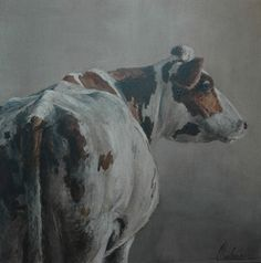Annabelle Lanfermeijer Cow Photos, Cow Pictures, Animal Paintings, Animal Drawings, Horse Paintings, Buffalo Animal, Cow Painting, Farm Art, West Art