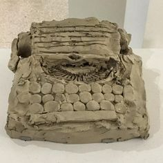 So lucky to find this extensive exhibition on Peter Fischli and David Weiss at Guggenheim. Hundreds of small playful sculptures in unfired clay went straight to my heart. No problem having seen much of it before. This a copy of Jack Kerouac's typewriter.