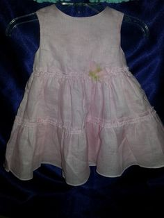 The Childrens Place Baby Girls Pink Linen Spring Summer Dress 6-9 M NWT Holiday   eBay item number:  151236122970  So much prettier than pictures can show!