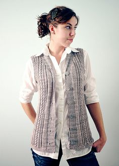 pretty knitted vest